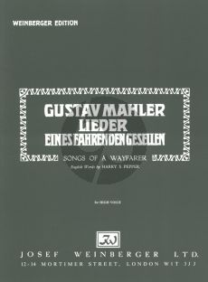 Mahler Songs of a Wayfahrer high voice and piano