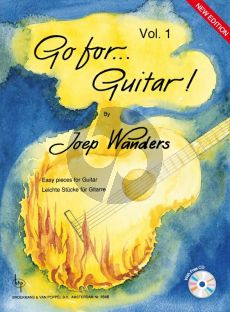 Wanders Go for Guitar! Vol.1 (Grade 1 - 2) (Bk-Cd) (Cd Contains Samples of All the Pieces to Listen To and as a Bonus 13 Play Along Tracks)