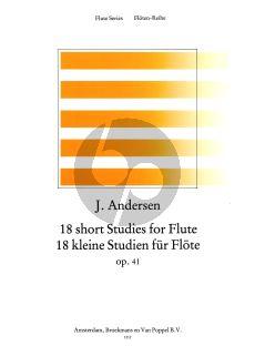 Andersen 18 Studies Op.41 for Flute (edited by Rien de Reede) (Grade 2)