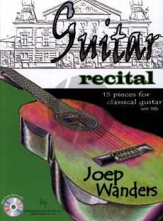 Wanders Guitar Recital (15 Pieces for Classical Guitar) (With TAB) (Bk-Demo Cd)