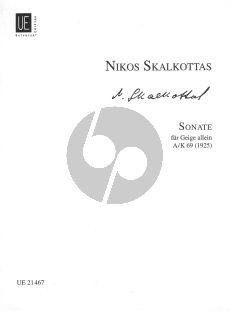 Skalkottas Sonate fur Geige solo A/K 69 (1925)