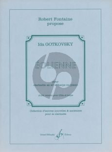 Gotkovsky Eolienne for Clarinet with Piano or Harp