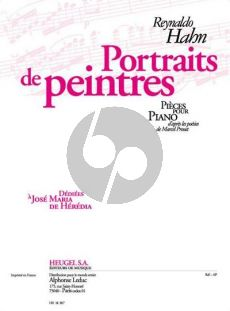 Hahn Portraits de Peintres Piano seule