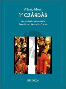 Monti Czardas No.1 Clarinet and Piano (Parola)