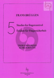 5 Studies for Fingercontrol for Treble Recorder