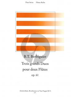 Berbiguier 3 Grands Duos Op.61 2 Flutes (edited by Frans Vester) (Parts)
