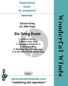 Six Grieg Duets for 2 Clarinets (arr. Alfie Pugh)
