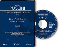 Puccini Messa a 4 Voici (Messa di Gloria) Soli-Chor-Orchester Bass Chorstimme CD (Carus Choir Coach)