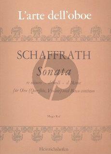 Schaffrath Sonata d-minor Oboe [Fl./Vi.] and Bc (edited by Hugo Ruf)