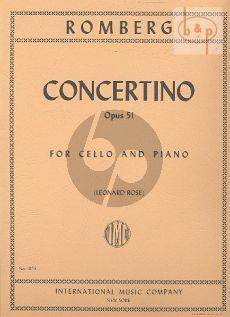 Concertino d-minor Op.51 Violoncello-Piano