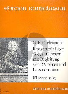 Telemann Konzert G-dur TWV 51:G1 Flöte-Streicher-Bc (KA) (Janos Malina)