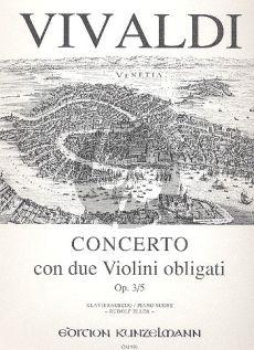 Vivaldi Concerto A-dur Op. 3 No. 5 2 Violinen-Klavier (Rudolf Eller)