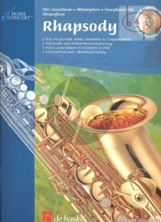 Rhapsody (Alto Sax.-Band) (piano red.) (Book with Play-Along Demo CD)