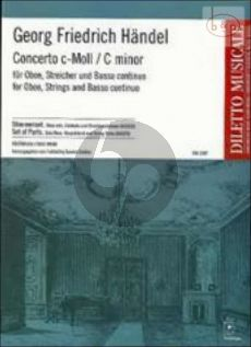 Concerto c-minor Oboe-Strings-Bc