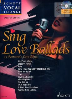 Sing Love Ballads (12 Romantic Love Songs) (Voice-Piano)