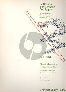 Vivaldi Concerto F-major RV 488 (F.VIII n.19) Basson-Piano (Allard)