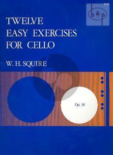 Squire 12 Easy Exercises Op.18 Violoncello