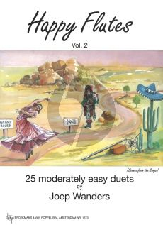 Wanders Happy Flutes Vol.2 (25 Moderately Easy Duets) (Grade 2 - 3)