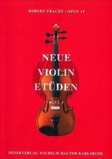 Pracht Neue Violin Etuden Op.15 Vol.3 (Etuden 1., 2. und 3. Lage)