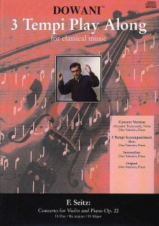 Seitz Concerto D major Op.22 Violin (Solo Part-CD) (Dowani)