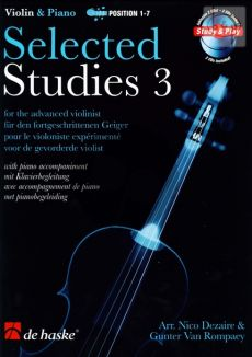 Dezaire-Rompaey Selected Studies Vol.3 Violin (with Piano Accomp.) (Bk-Cd) (Pos.1 - 7)