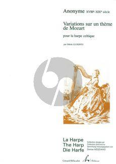 Anonymus Variations sur un theme de Mozart pour Harpe (le Dentu) (Moyen)
