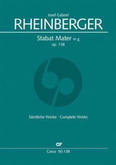Rheinberger Stabat Mater g-minor Op.138 (1884) (SATB-Organ[2 Vi.- Va.-Vc.-Bass opt.]) (Score) (Theill)