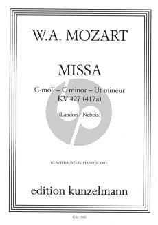 Mozart Missa c-Moll KV 427 Soli-Chor-Orchester (Klavierauszug) (H.C. Robbins Landon / Nebois)
