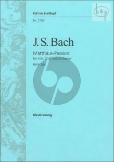Matthaus Passion BWV 244 (Schneider)
