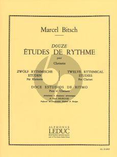 Bitsch 12 Etudes de Rythme Clarinette