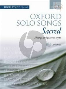 Oxford Solo Songs Sacred High Voice-Piano or Organ (16 Songs) (Bk-Cd)