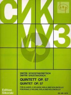 Shostakovich Quintet g-minor Op.57 2 Vi.-Va.-Vc.-Piano (Score/Parts)