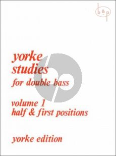 Slatford Yorke Studies Vol.1 for Double Bass (Half & First Positions)