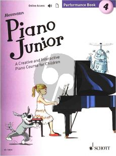 Heumann Piano Junior: Performance Book 4 (A Creative and Interactive Piano Course for Children) (Book with Audio online)