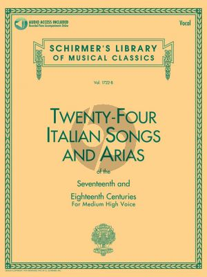 24 Italian Songs & Arias (of the 17th & 18th Century) Medium High