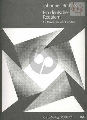 Ein Deutsches Requiem Op.45 Klavier zu 4 Hd.