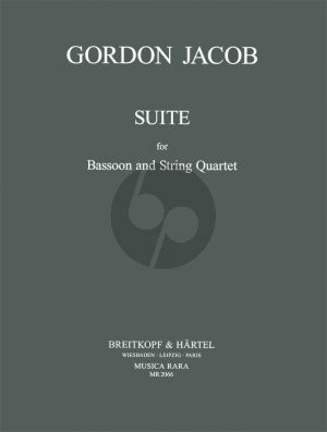 Jacob Suite for Bassoon- 2 Violins-Viola-Violoncello (Score/Parts)