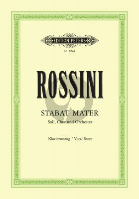 Rossini Stabat Mater 4 Soli-Choir-Orchestra Vocal Score (Andreas Schenck)