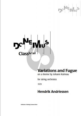 Variations and Fugue on a Theme by Johann Kuhnau (1935) for String Orchestra Fullscore