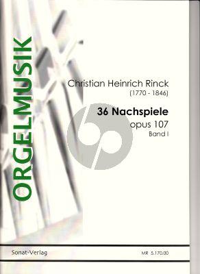 Rinck 36 Nachspiele Op. 107 Vol. 1 Orgel