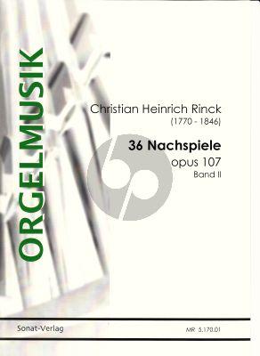 Rinck 36 Nachspiele Op. 107 Vol. 2 Orgel