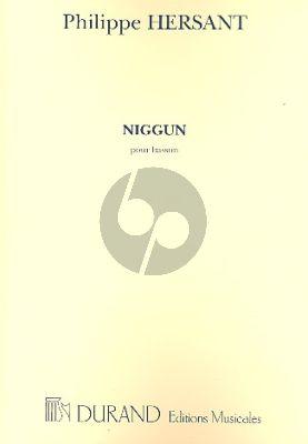 Hersant Niggun pour Basson seule