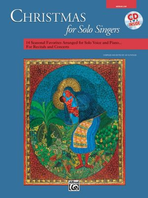 Christmas for Solo Singers (Med.Low) (Bk-Cd)