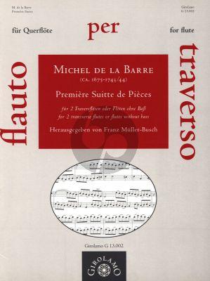 Barre Premiere Suitte de Pieces fur 2 Floten ohne Bass (Herausgegeben von Franz Muller-Busch)