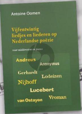 """Oomen 25 Liedjes en Liederen op Nederlandse Poezie (Middenstem, grotendeels a-f"""")"""