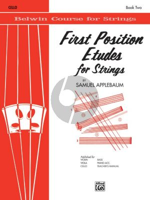 Applebaum First Position Etudes for Cello