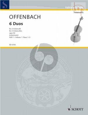6 Duos Op. 50 Vol. 1 (No. 1 - 3) 2 Violoncellos