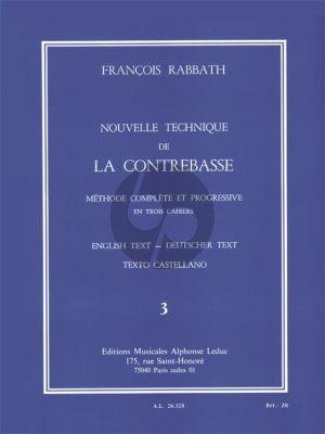 Rabbath Nouvelle Technique de la Contrebasse Vol.3