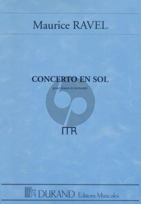 Ravel Concert en Sol Piano-Orchestre Partition