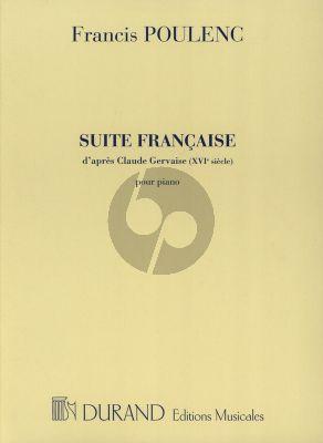 Suite Francaise d'après Claude Gervaise Piano seul